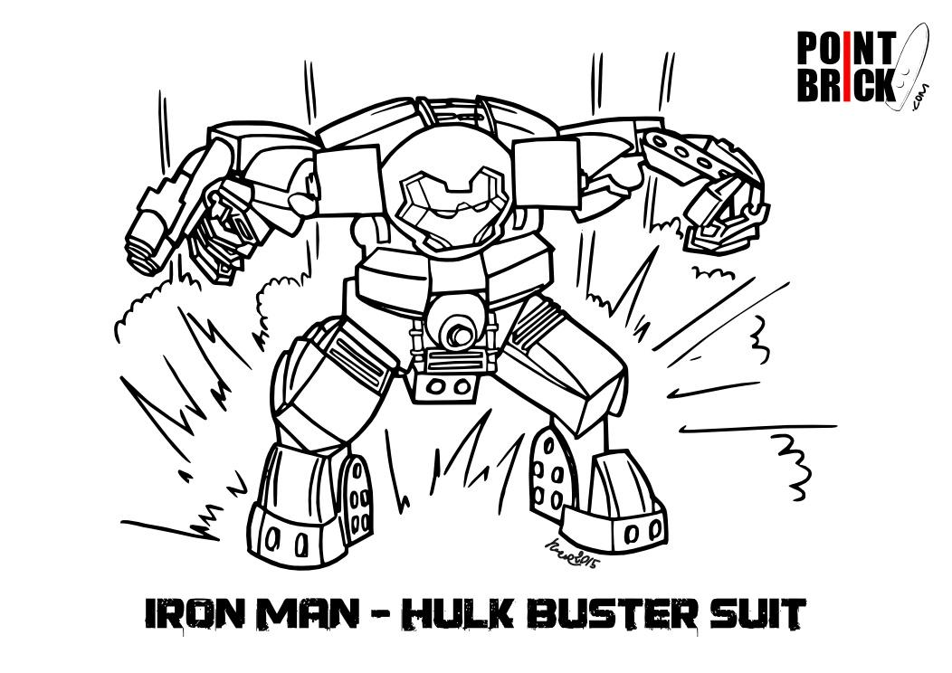 Point Brick Blog: Disegni Da Colorare: LEGO Hulk Buster Ed