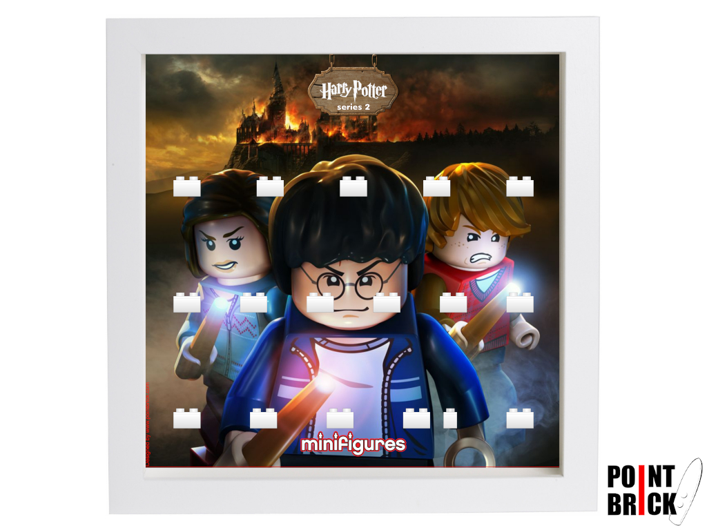 Dettaglio del set LEGO Display Frames / Cornici espositore per Minifigures - 7124903 Minifigures Display Harry Potter Serie 2 - Fire - Bianco