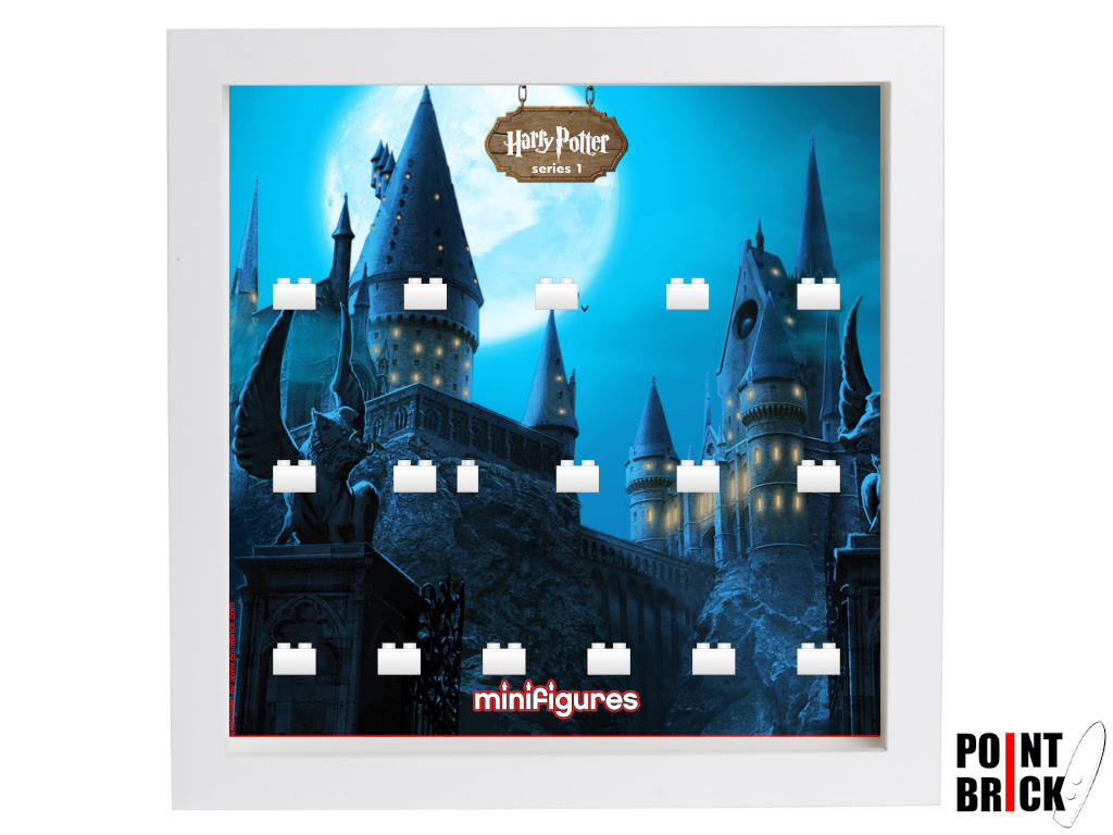 Dettaglio del set LEGO Display Frames / Cornici espositore per Minifigures - 7124969 Minifigures Display Frame Serie Harry Potter - Hogwarts Bianco