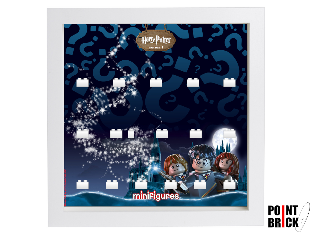 Dettaglio del set LEGO Display Frames / Cornici espositore per Minifigures - 7124971 Minifigures Display Frame Serie Harry Potter - Voldemort Bianco