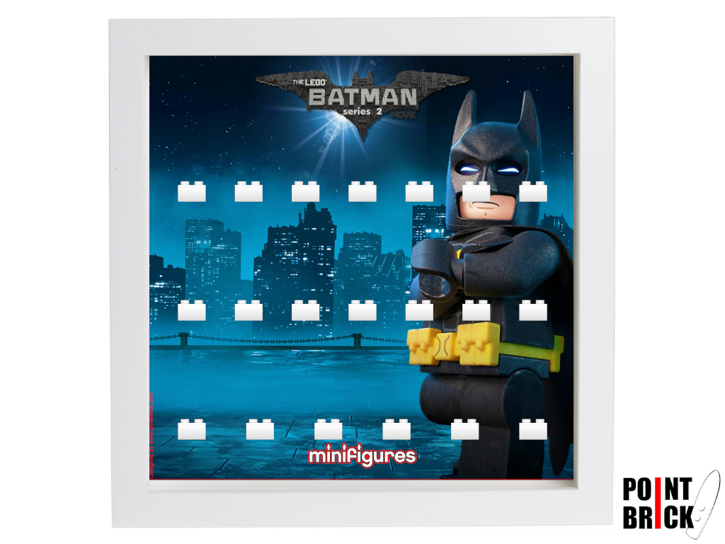 Dettaglio del set LEGO Display Frames / Cornici espositore per Minifigures - 7124989 Minifigures Display Frame The LEGO Batman Movie Serie 2 - 1B