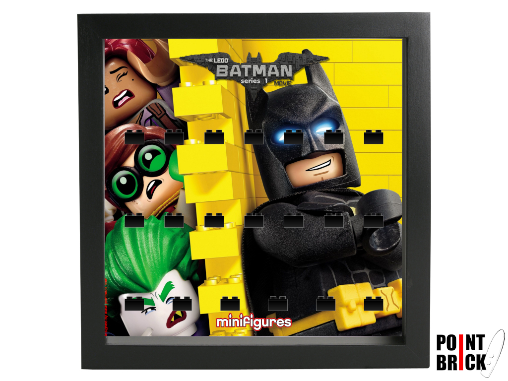 Dettaglio del set LEGO Display Frames / Cornici espositore per Minifigures - 7125004 Minifigures Display Frame Serie Batman Movie - 3 Nero