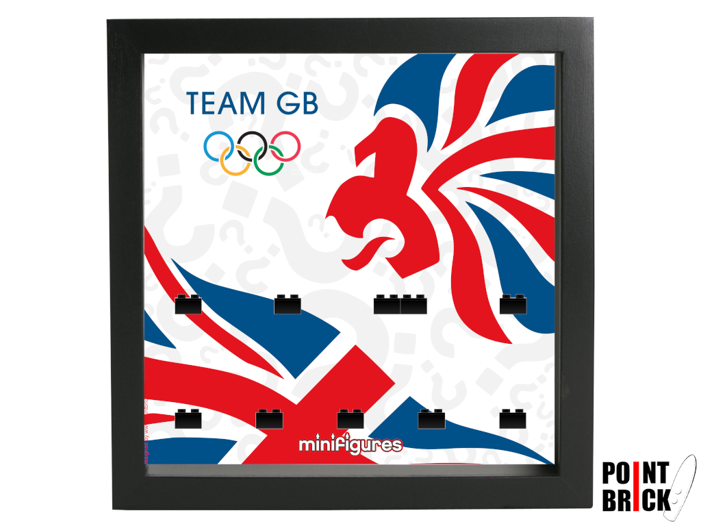Dettaglio del set LEGO Display Frames / Cornici espositore per Minifigures - 7125028 Minifigures Display Frame Olimpiadi 2012 Team GB - Nero