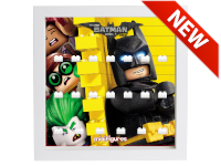 LEGO 7125003 - Minifigures Display Frame Serie Batman Movie - 2 Bianco