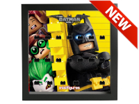 LEGO 7125004 - Minifigures Display Frame Serie Batman Movie - 3 Nero
