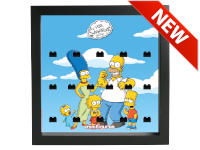 LEGO 7125014 - Minifigures Display Frame The Simpsons Serie 2 - Nero