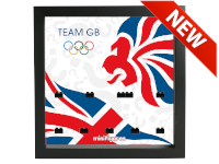 LEGO 7125028 - Minifigures Display Frame Olimpiadi 2012 Team GB - Nero